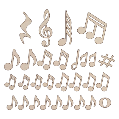 Music Notes add on kit - Esdee Designs