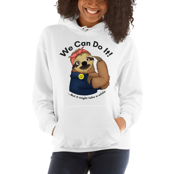 Sloth Rosie the Riveter Hooded Sweatshirt