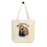 Sloth Rosie the Riveter Organic Cotton Tote Bag - Esdee Designs