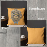 Leon Lion Indoor Outdoor Accent Pillow - Esdee Designs