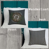 Wanderlust Indoor Outdoor Accent Pillow - Esdee Designs