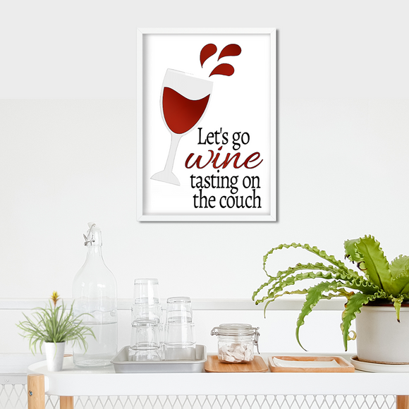 Wino metallic art print - Esdee Designs