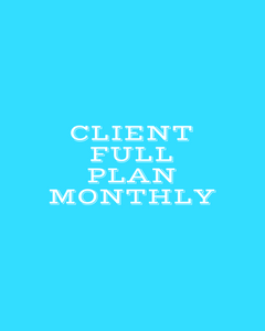Client Full Plan Monthly-Coach Holly
