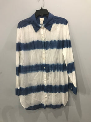 Size 2 (Large) Chico's Blue/White Women's NEW Shirt