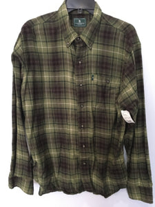 G.H.Bass & Co Green Plaid Size Large Men's Shirt