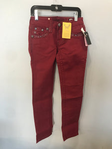Boutique Burgundy Size 8 NEW Miss Me Girls Skinny Jeans
