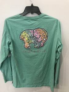 Size Medium Ivory Ella Green Women's Shirt