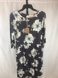 Joules Gray Print Size 8 Women's Dress