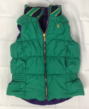 Load image into Gallery viewer, Ralph Lauren Green Size 6 Girls Vest Reversible