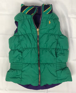Ralph Lauren Green Size 6 Girls Vest Reversible