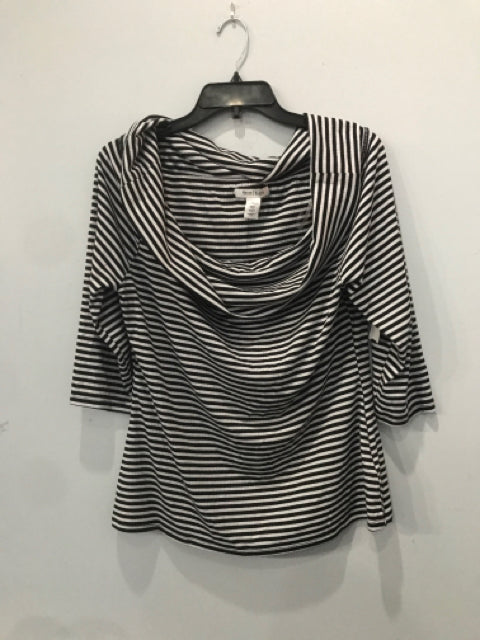 Size XL White House Black Market Black Striped Women's Shirt