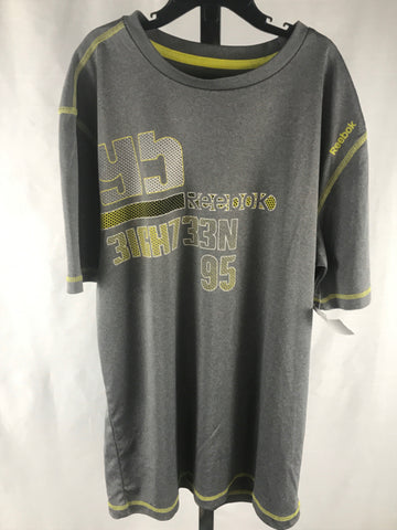 Reebok Child Size XLarge Gray/Yellow Boys Active top