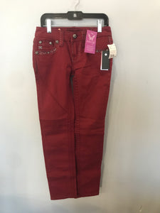 Boutique Burgundy Size 10 NEW Miss Me Girls Skinny Jeans
