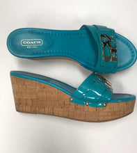 Load image into Gallery viewer, Shoe Size 8 Coach Teal Women's Shoes