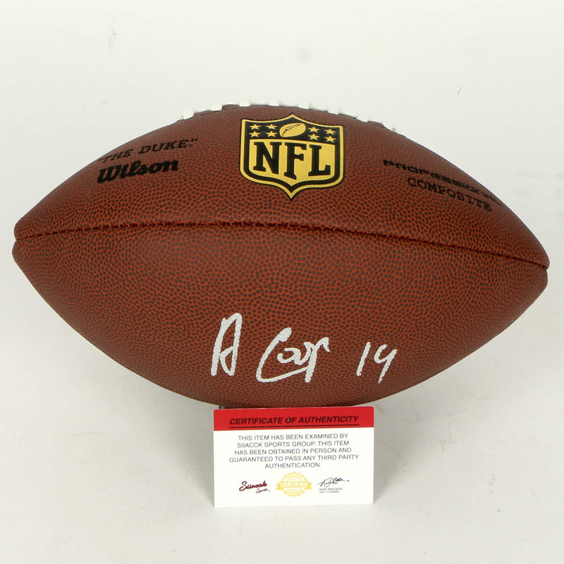 Amari Cooper Signed Football Dallas Cowboys