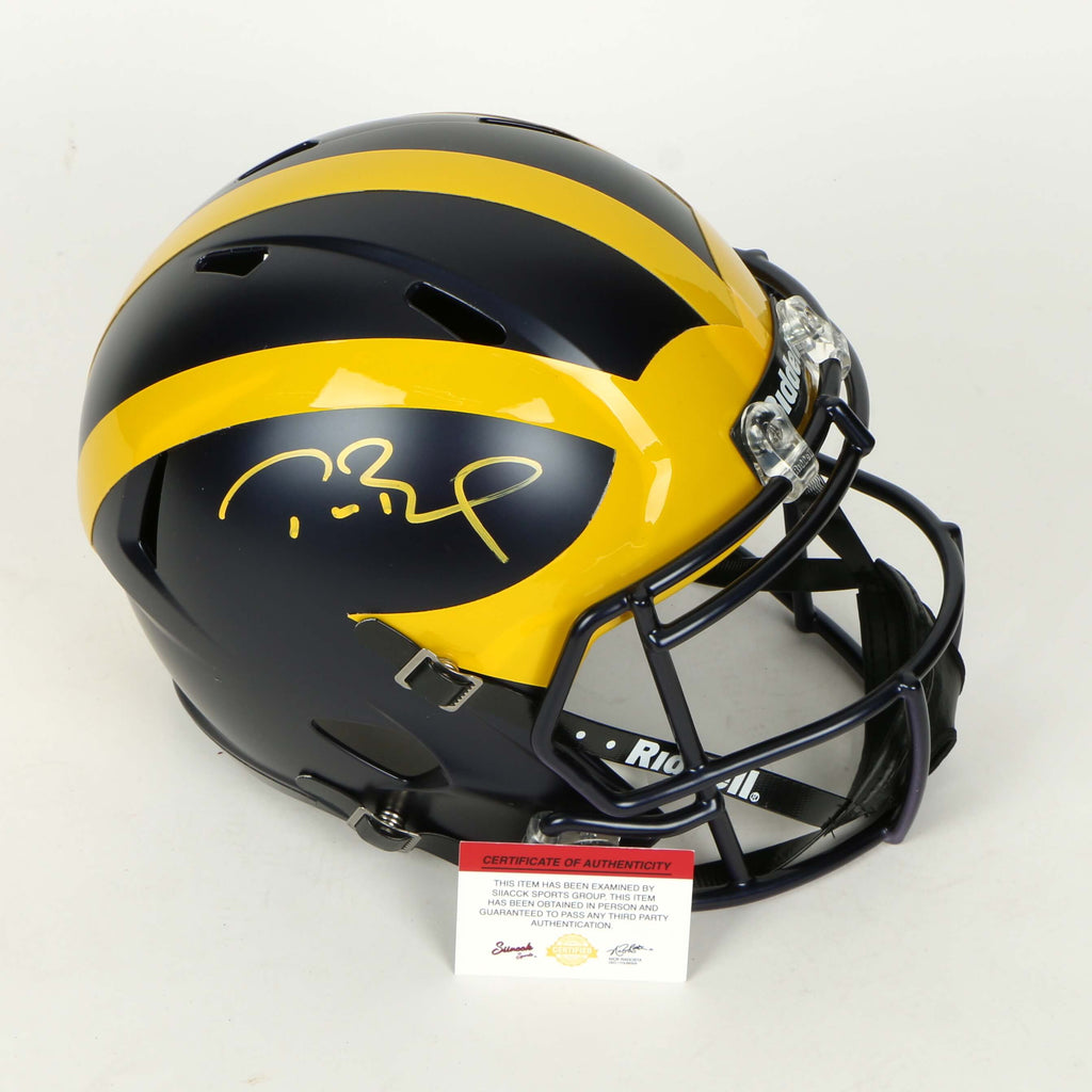 Tom Brady Full Sized Michigan Wolverines Helmet