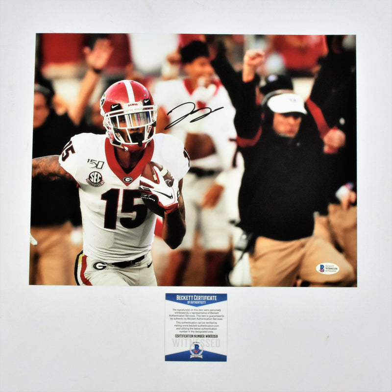 Lawrence Cager Signed 11x14 Photo Georgia Bulldogs