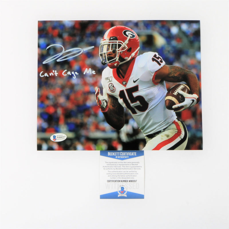 "Lawrence Cager Signed 8x10 Photo Georgia Bulldogs ""Can't Cage Me"" Inscribed"
