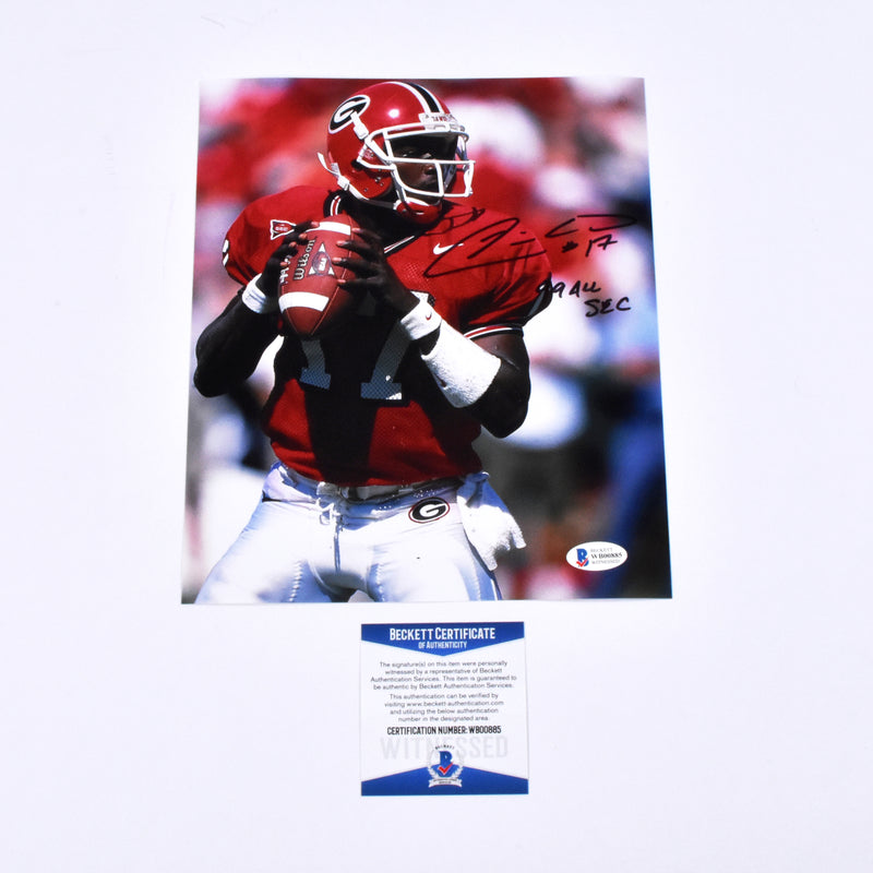 "Quincy Carter Signed 11x14 Georgia Bulldogs ""99 All SEC"" Inscribed"