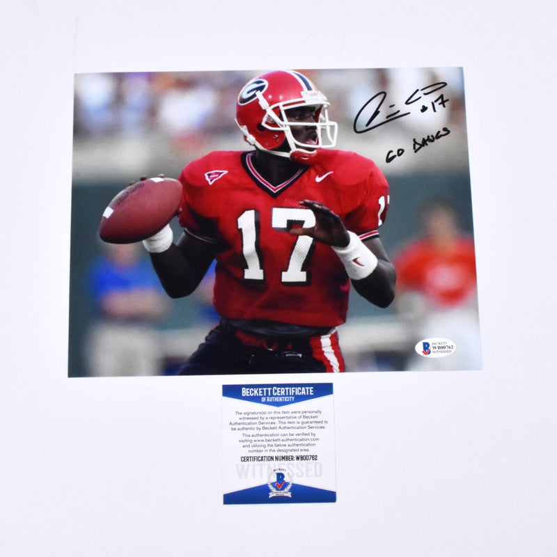 "Quincy Carter Signed 11x14 Georgia Bulldogs ""GO DAWGS"" Inscribed"