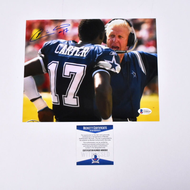 Quincy Carter Signed 8x10 Dallas Cowboys Photograph