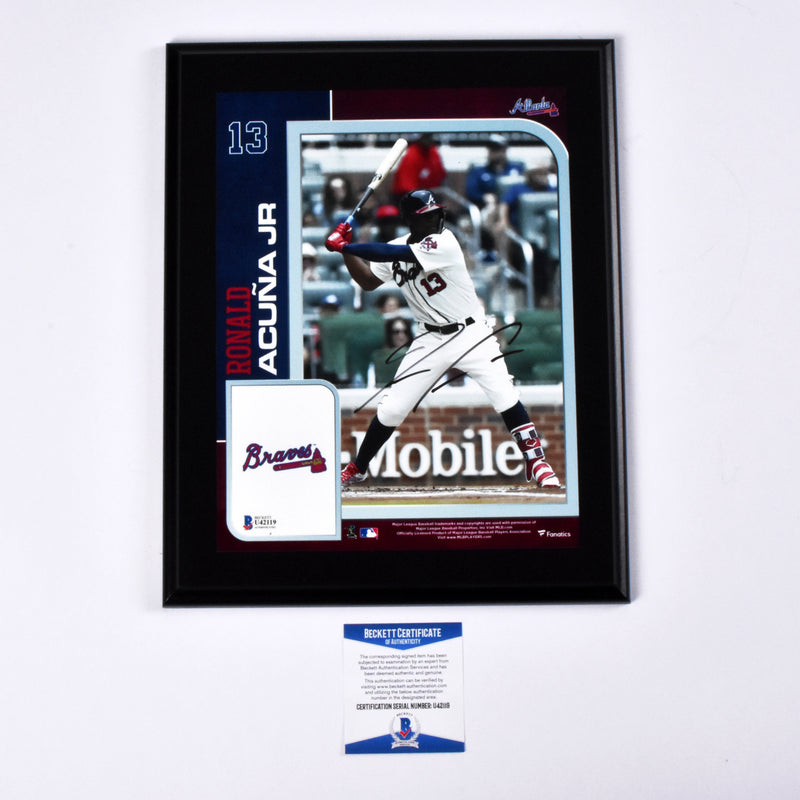 Ronald Acuna Signed Authentic Plaque Atlanta Braves MLB