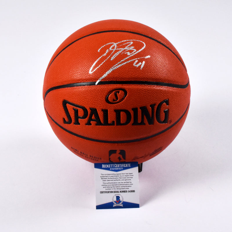 Dirk Nowitzki Dallas Mavericks Signed Spalding Indoor/Outdoor Basketball