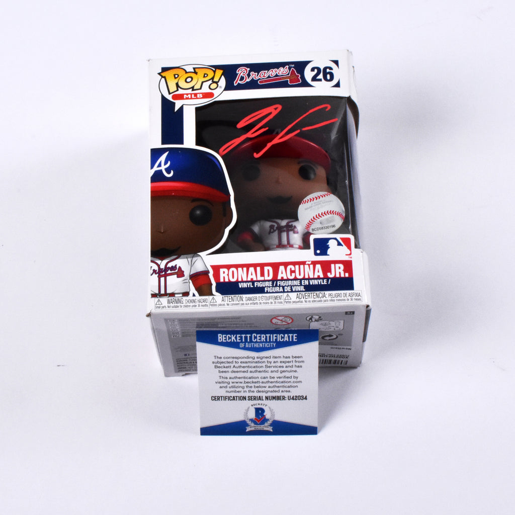 Ronald Acuña Jr. Signed Funko Pop Atlanta Braves
