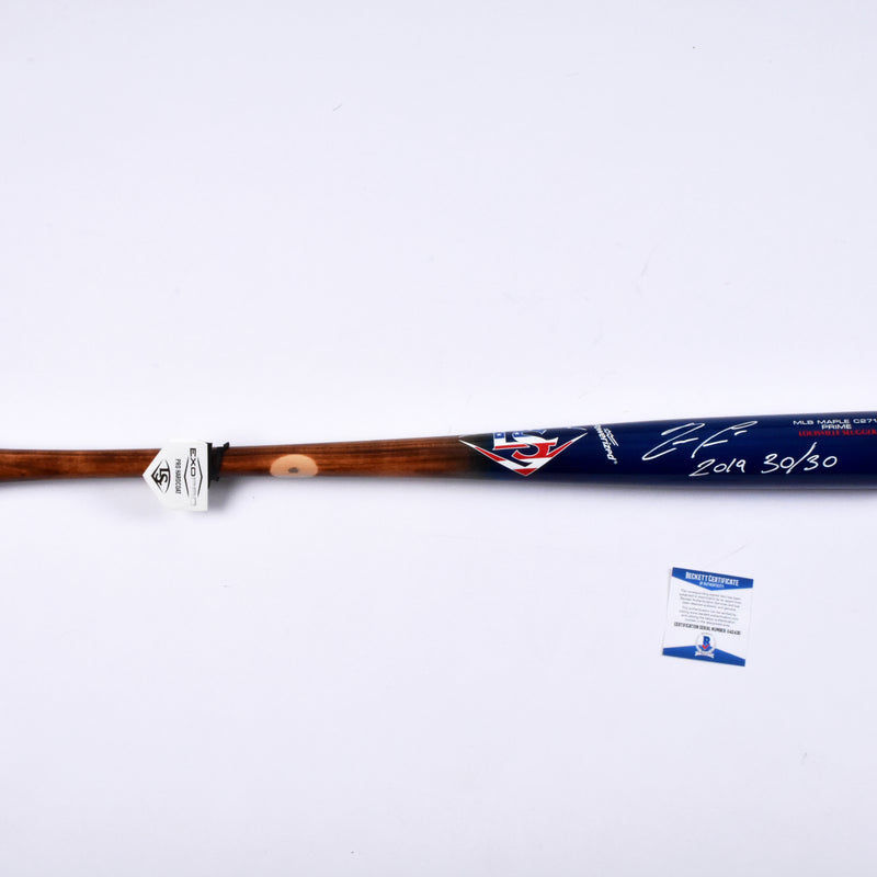 "Ronald Acuña Jr. Atlanta Braves Signed Louisville Slugger Bat ""2019 30/30"" Inscribed"