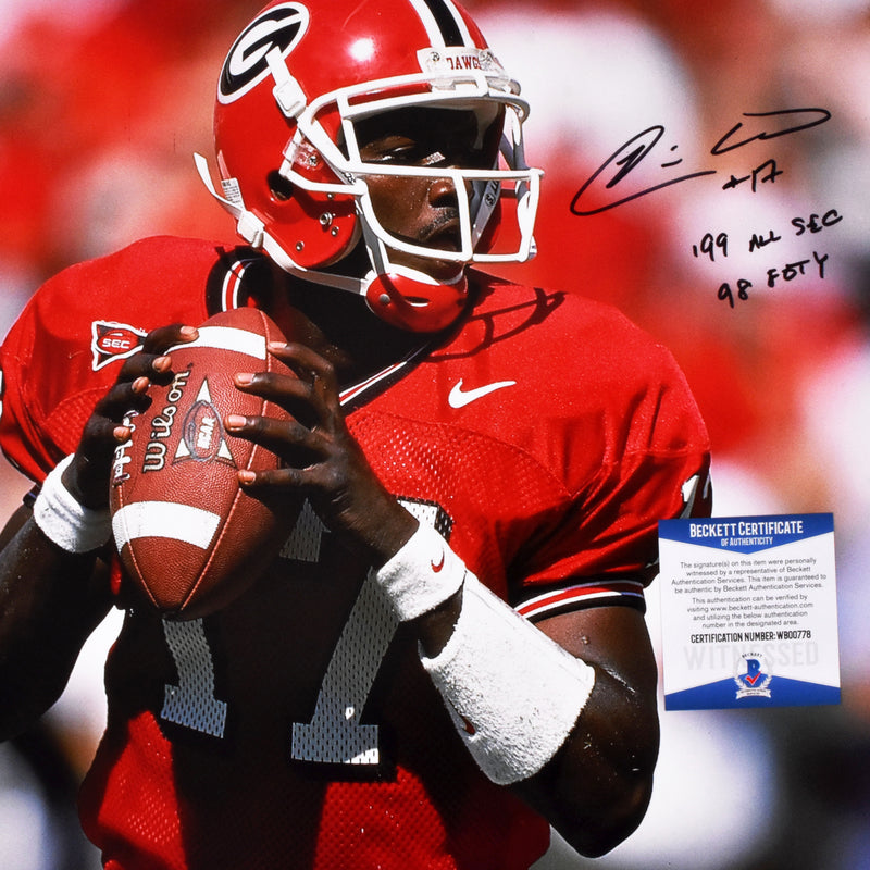 Quincy Carter Signed 16x20 Georgia Bulldogs Photograph Inscribed