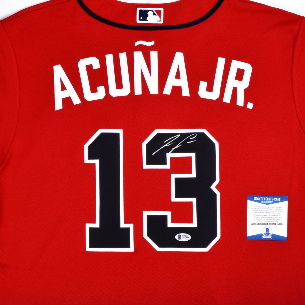 Ronald Acuña Jr. Signed Nike Atlanta Braves Jersey - Red