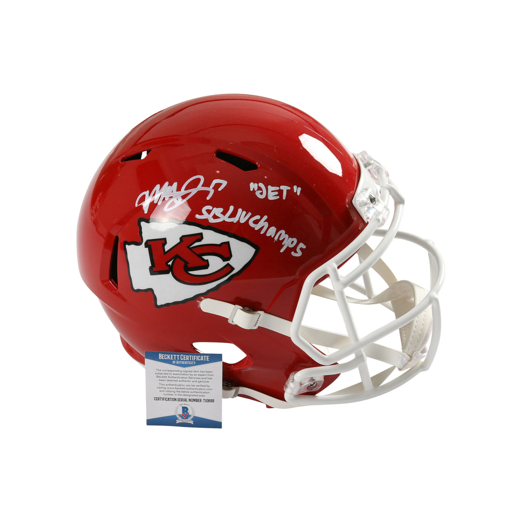 Mecole Hardman Signed Full Size Speed Helmet Kansas City Chiefs Inscribed