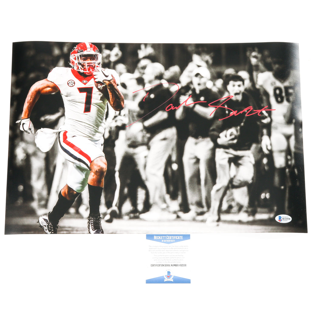 D'Andre Swift Signed 12x18 Photo Georgia Bulldogs