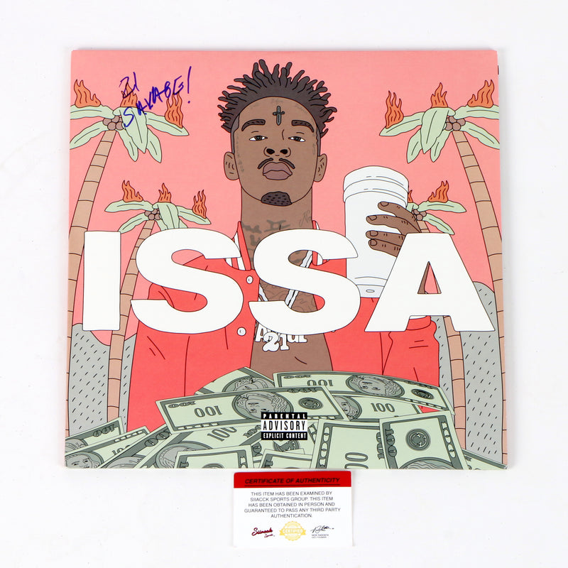 21 Savage Signed Issa Vinyl