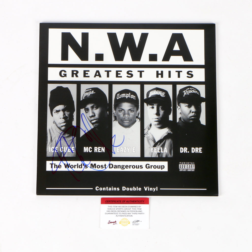 Ice Cube Signed Vinyl NWA Greatest Hits