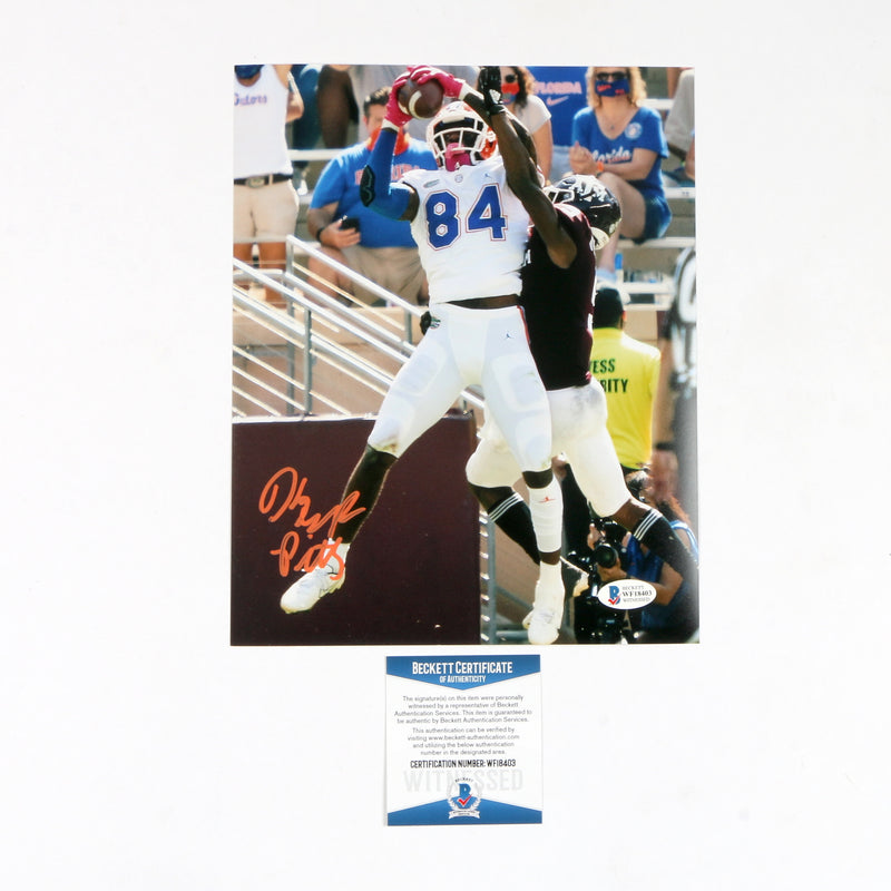 Kyle Pitts Signed 8x10 Florida Gators Snag