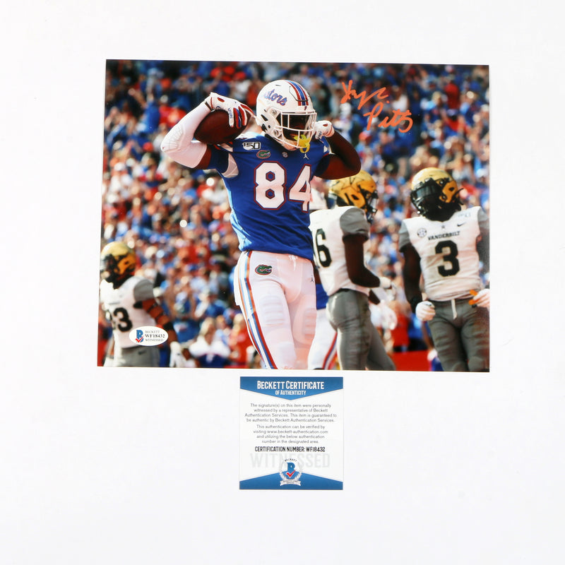 Kyle Pitts Signed 8x10 Florida Gators Flex Color