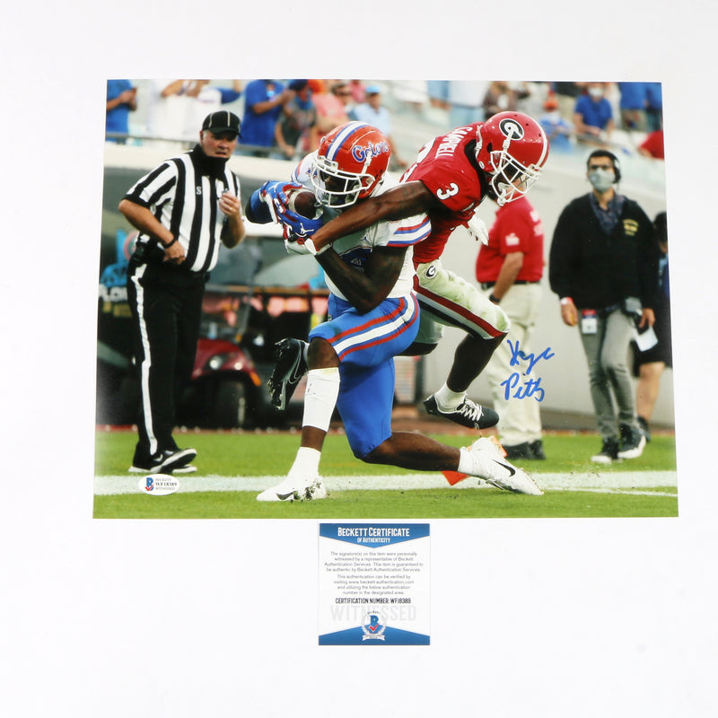 Kyle Pitts Signed 11x14 Florida Gators TD Catch