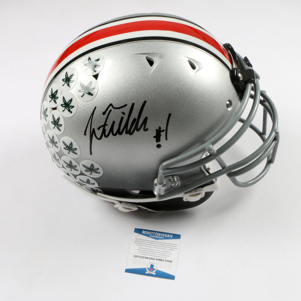 Justin Fields Signed Full Size Helmet Authentic Ohio State Buckeyes