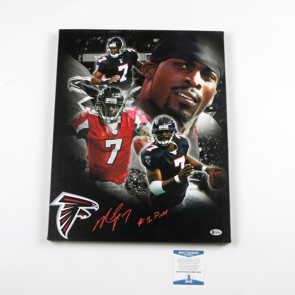 Michael Vick Signed Canvas Atlanta Falcons