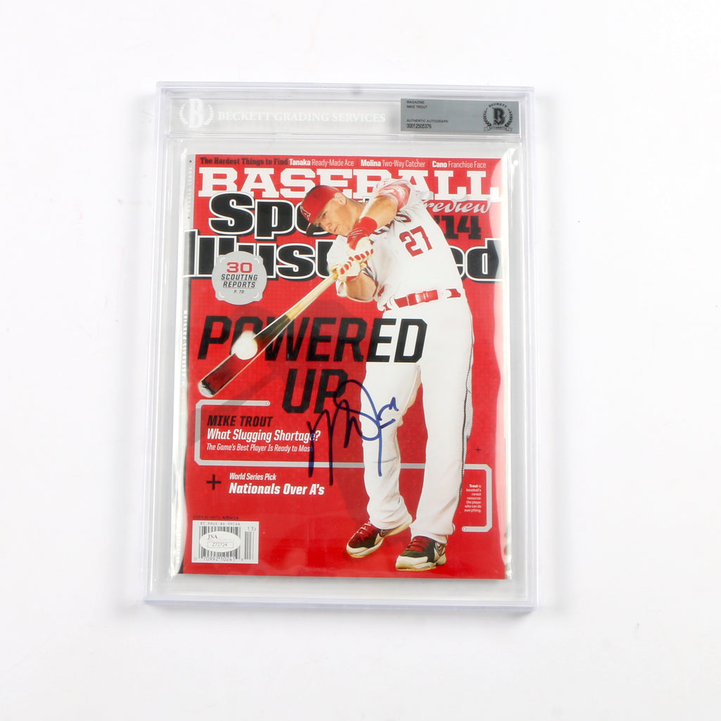 Mike Trout Signed Sports Illustrated Slabbed Los Angeles Angels