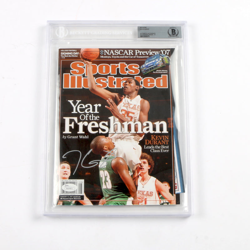 Kevin Durant signed Sports Illustrated Texas Slabbed