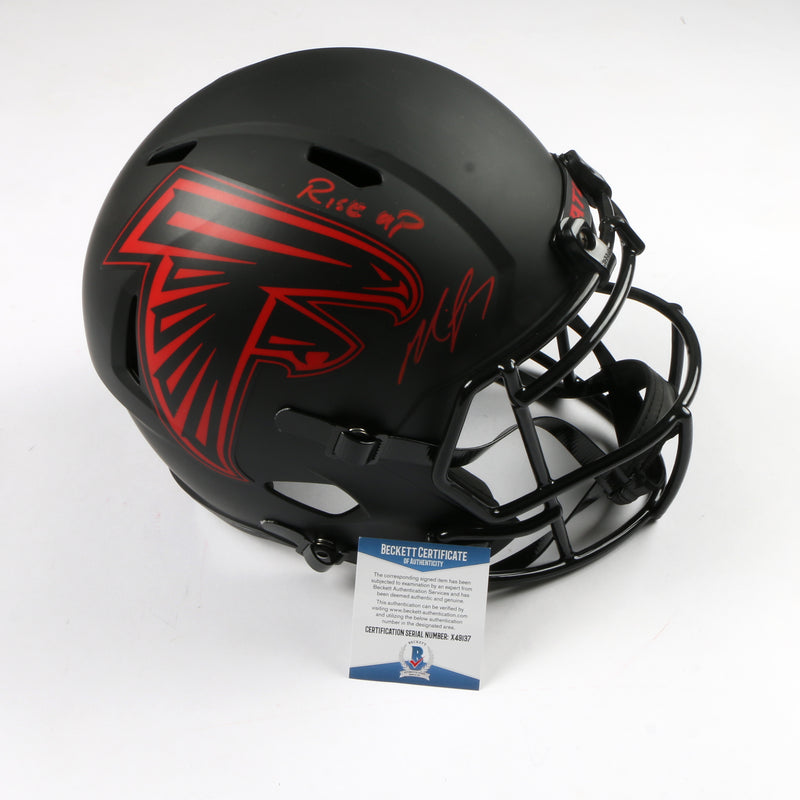 Michael Vick Signed Full Size Helmet Eclipse Replica Atlanta Falcons