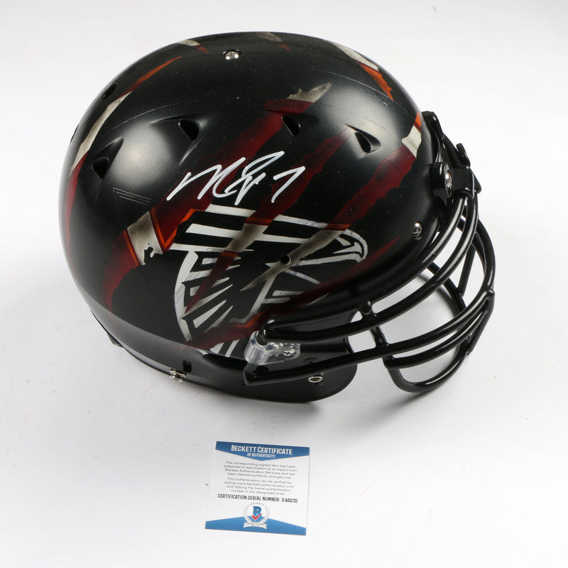 Michael Vick Signed Full Size Helmet Hand Painted