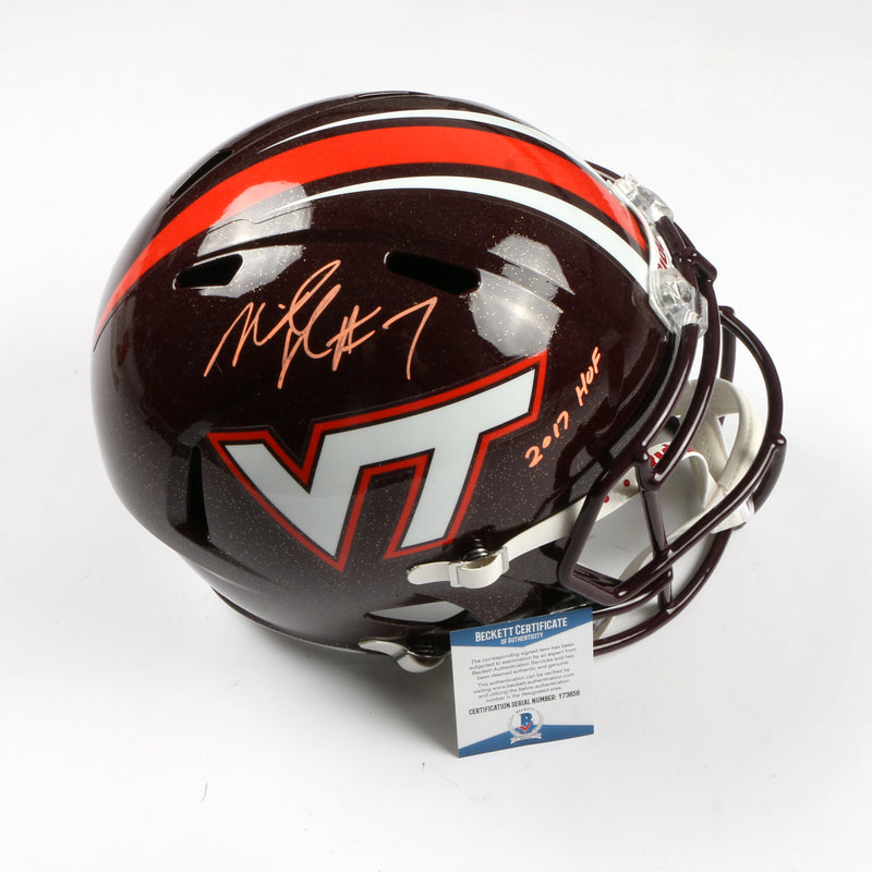 Michael Vick Signed Full Size Speed Replica Helmet Virginia Tech Hookies