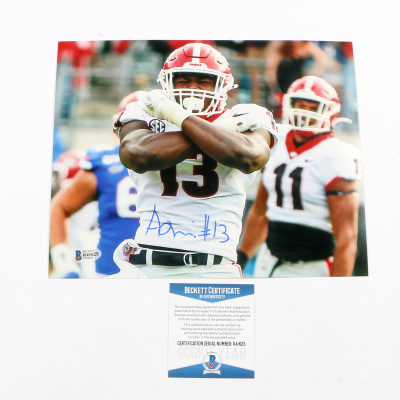 Azeez Ojulari Signed 8x10 Photo Georgia Bulldogs