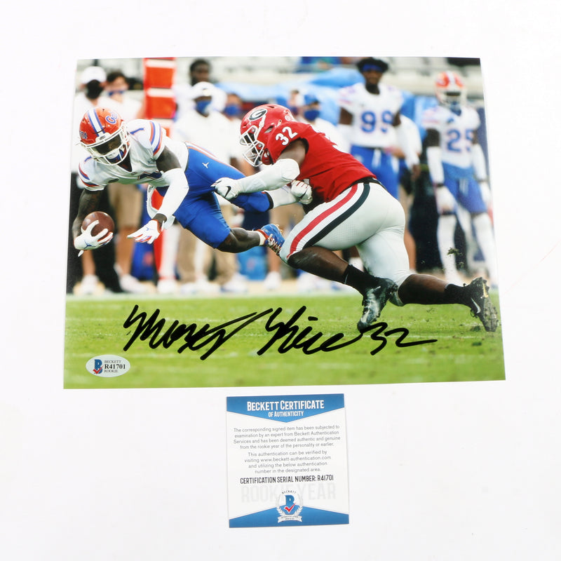 Monty Rice Signed 8x10 Photo Georgia Bulldogs