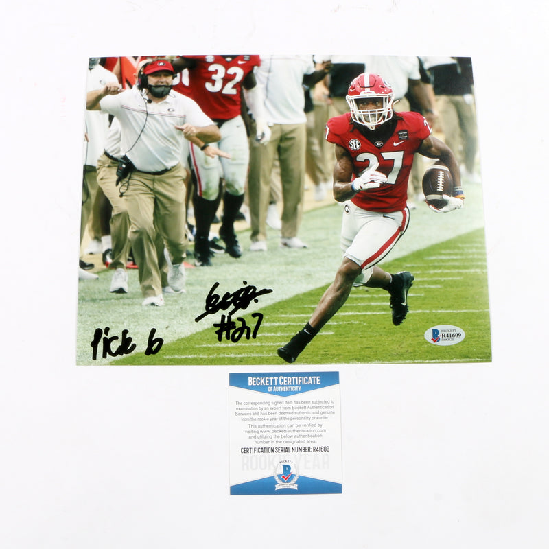 Eric Stokes Signed 8x10 Photo Georgia Bulldogs