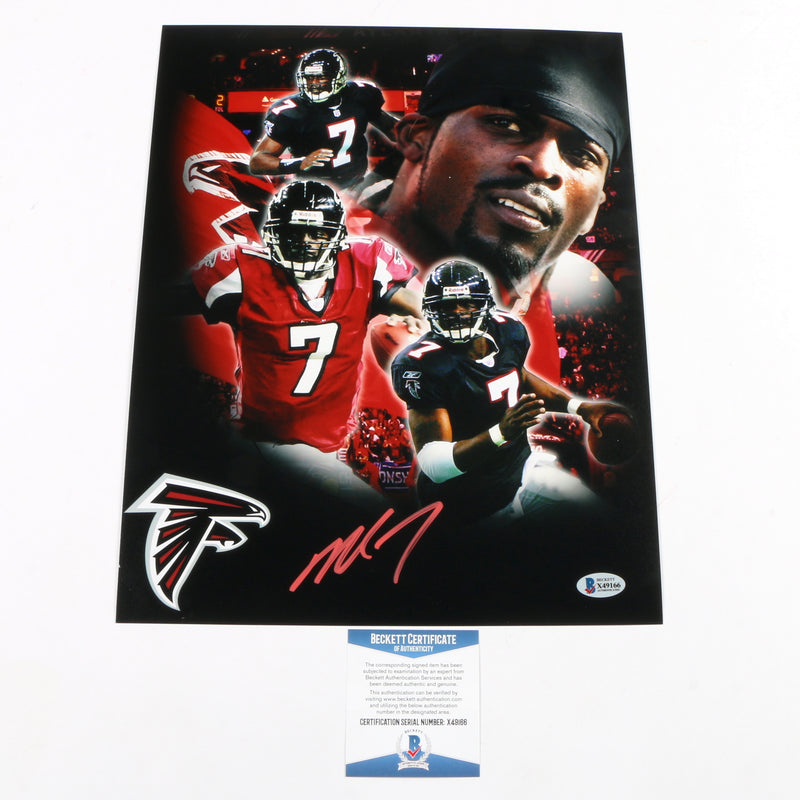 Michael Vick Signed 11x14 Photo Edit Atlanta Falcons
