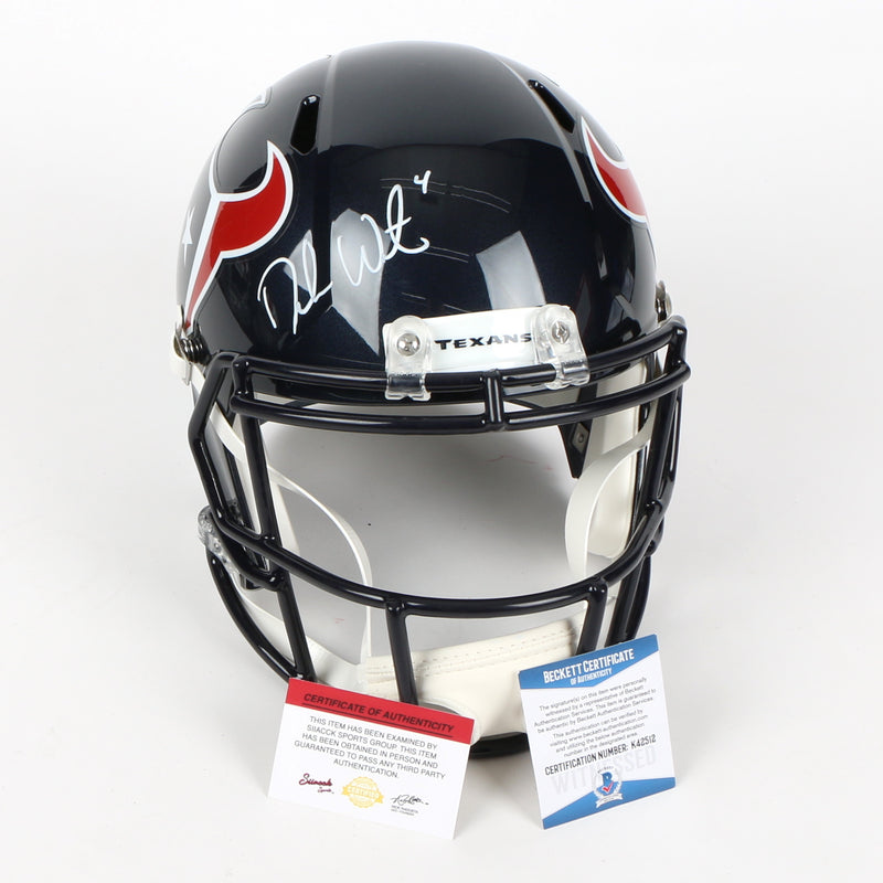 Deshaun Watson Signed Houston Texans Full Size Helmet